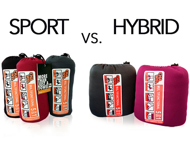 Sport model vs. Hybrid towel