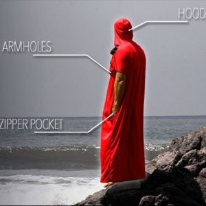 Sport HD surf poncho travel towel